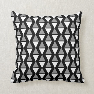 Small Blacl Diamond Throw Pillow