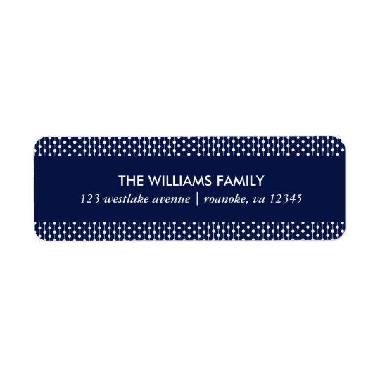 Small Blue Dots Return Address Label