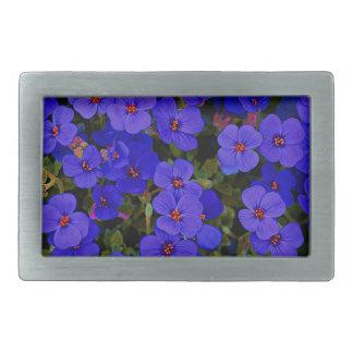 Small Blue Flowers Belt Buckle