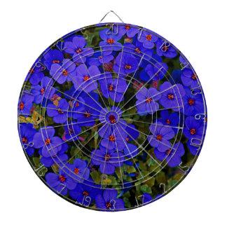 Small Blue Flowers Dartboard