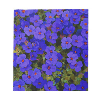 Small Blue Flowers Notepad