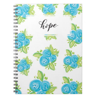Small Blue Roses Spiral Notebook