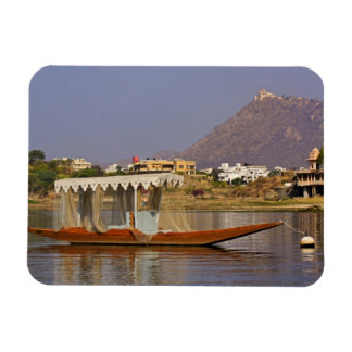 Small boat, Lake Pichola, Udaipur, India. Magnet