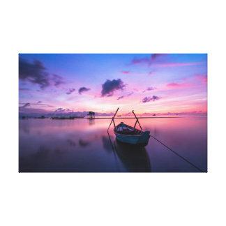 Small Boat | Sky | Island Canvas Print