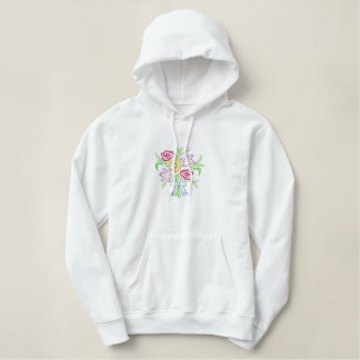 Small Bouquet Embroidered Hoodie