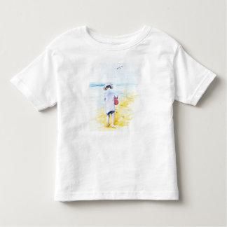 Small boy at the beach toddler t-shirt