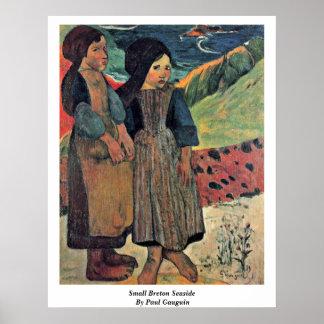 Small Breton Seaside By Paul Gauguin Poster
