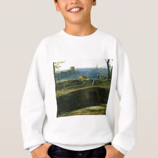 small bridge over looking sea sweatshirt
