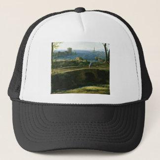 small bridge over looking sea trucker hat