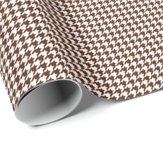 Small Brown and White Houndstooth