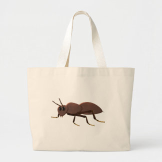 Small brown ant large tote bag