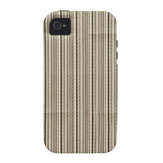 Small brown stripes creased iPhone 4 cover