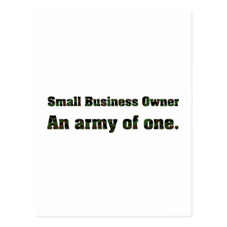 Small Business Army 2 Postcard