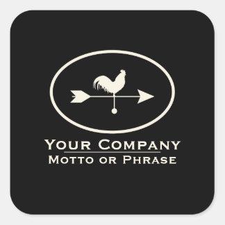 Small Business Ivory Weathervane Square Sticker