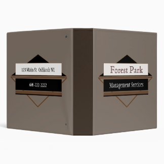 Small Business Manual Custom Personalized Vinyl Binder