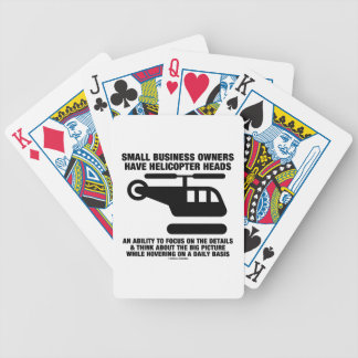 Small Business Owners Have Helicopter Heads Bicycle Card Decks