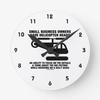 Small Business Owners Have Helicopter Heads Wallclock