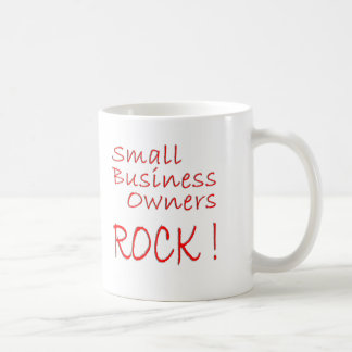 Small Business Owners Rock ! Basic White Mug