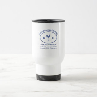 Small Business Saturday - blue Rooster Coffee Mugs