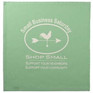 Small Business Saturday - cream Cloth Napkin