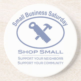 Small Business Saturday - Hardware blue Coasters