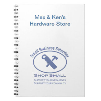Small Business Saturday - Hardware blue Notebooks