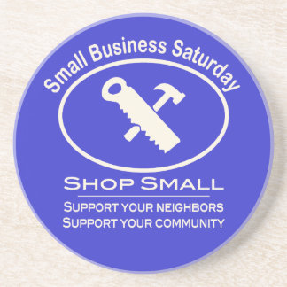 Small Business Saturday Hardware (white) Coaster