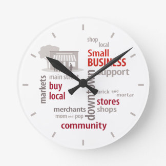 Small Business, Shop Local, Buy Local Clocks