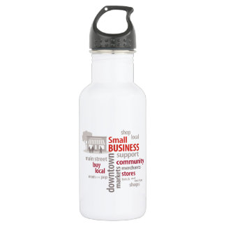 Small Business, Shop Local, Buy Local 18oz Water Bottle