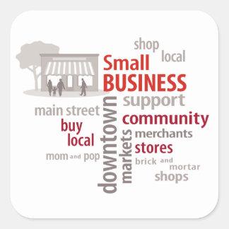 Small Business, Shop Local, Buy Local Square Sticker