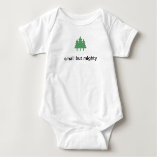 small but mighty baby bodysuit