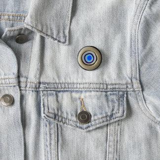 Small Button/ Greek Evil Eye 1 Inch Round Button