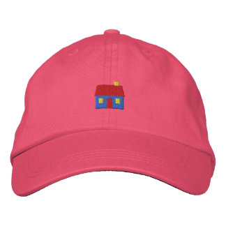 Small Cabin Embroidered Hat