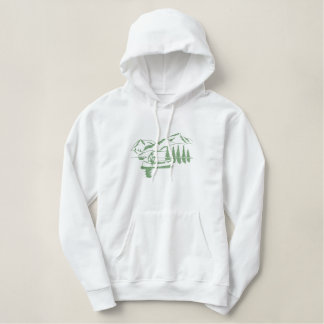 Small Canoe Scene Embroidered Hoodie