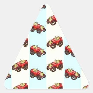 small car triangle stickers