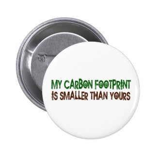 Small Carbon Footprint 2 Inch Round Button