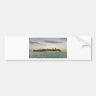 small caribbean island car bumper sticker