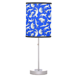 Small Cat Nap Table Lamp (Blue)