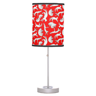 Small Cat Nap Table Lamp (Red)