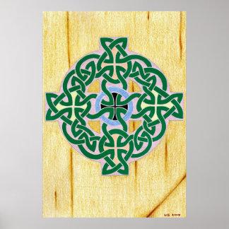 Small Celtic Cross (combo) print