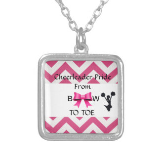Small Cheerleader Pride Silver Necklace