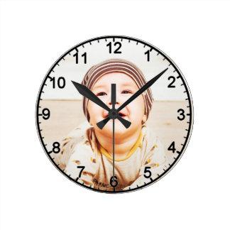 small child round clock