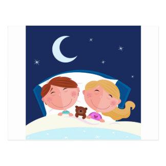 Small Children Sleeping Peacefully Postcard