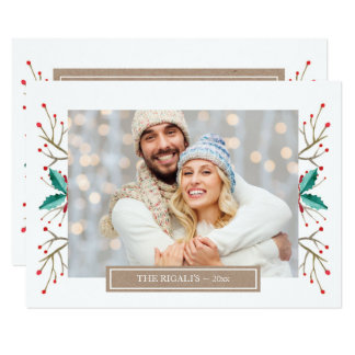 Small Christmas Family Photo Greeting Card