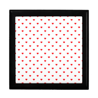 Small Christmas Red Polka Dot Hearts On Snow White Gift Box