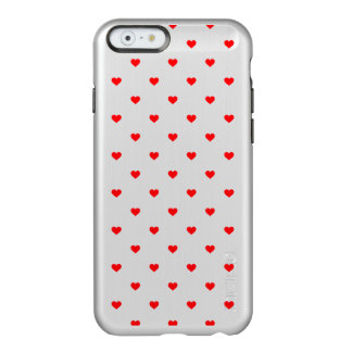 Small Christmas Red Polka Dot Hearts On Snow White Incipio Feather® Shine iPhone 6 Case