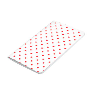 Small Christmas Red Polka Dot Hearts On Snow White Journal