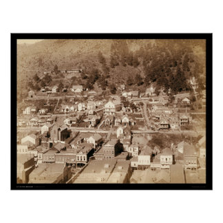 Small City of Deadwood SD 1887 Poster