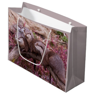 Small Clawed Otters Gift Bag