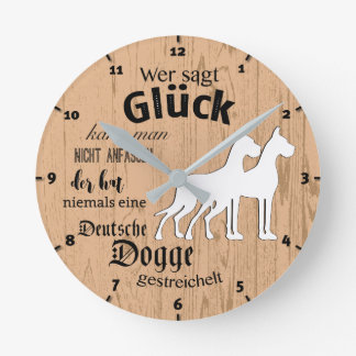 Small clock with Doggenspruch on it